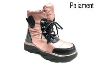 Дутики / Ботинки Детские зимние на девочку PALIAMENT (ESNZ1-21-22-2128B-2) (Подкладка: Набивная шерсть)