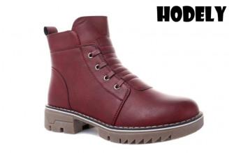 Ботинки Женские зимние HODELY (HDLZ2-21-22-WT123-7) (Подкладка: Искусственный мех)
