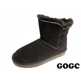 Угги из натуральной замши Женские GOGC (MMIZ8-9-G9841-20) (Подкладка: натуральный мех)