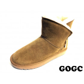Угги из натуральной замши Женские GOGC (MMIZ8-9-G9838-5) (Подкладка: натуральный мех)