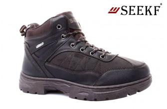 Ботинки Мужские зимние SEEKF (SKFZ1-21-22-5055-7) (Подкладка: Искусственный мех)