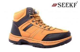 Ботинки Мужские зимние SEEKF (SKFZ1-21-22-5057-7) (Подкладка: Искусственный мех)