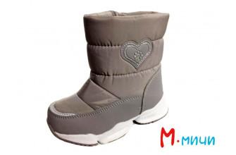 Дутики Детские зимние на девочку М.МИЧИ (MMIZ1-20-21-ML9970C-4) (Подкладка: Набивная шерсть)